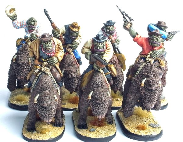 Set of 7 Mounted Cowboy Orcs