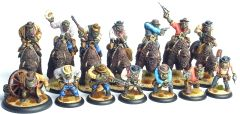 Set of 7 Mounted and 7 Foot Cowboy Orcs