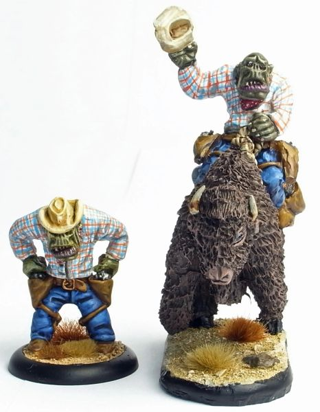 Cowboy Orc 3 -Roy Quickdraw Rotntoof - Foot & Mounted