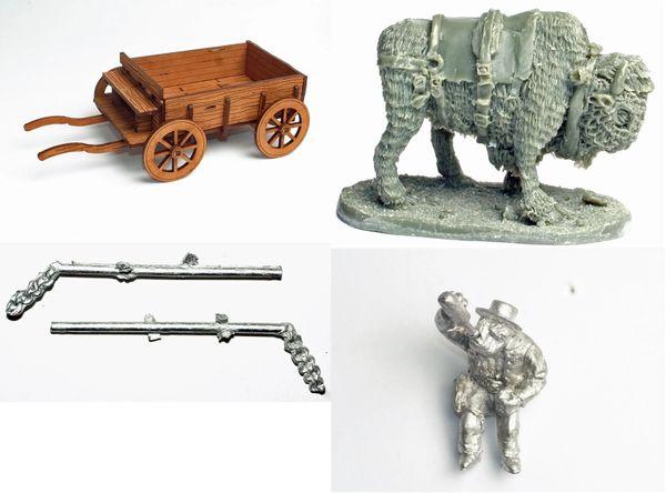 Cowboy Orc Wagon, Bison & Driver
