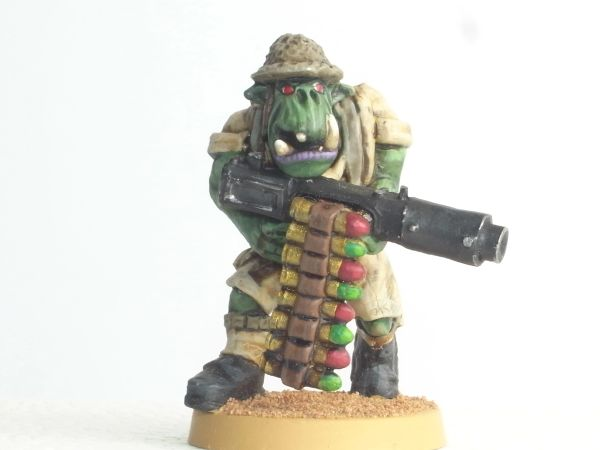 Desert Orc Trooper with Machine Gun