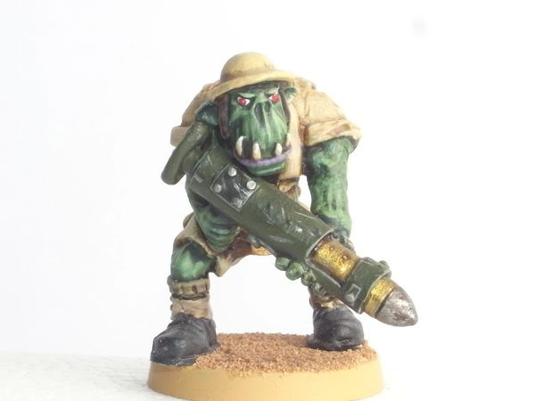 Desert Orc Trooper with Rocket Launcher