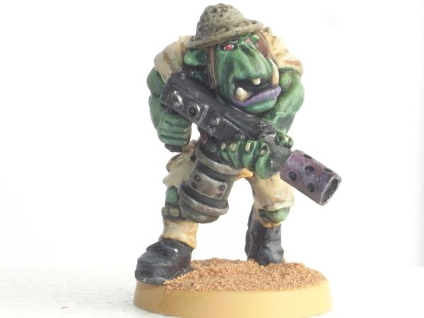 Desert Orc Trooper with Flamethrower