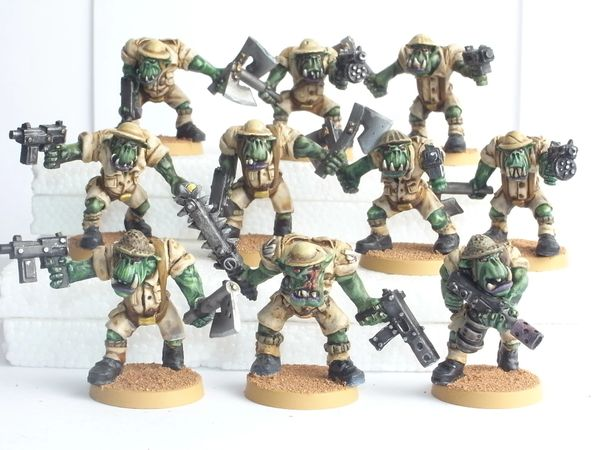 Desert Orc Close Combat Squad