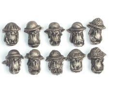 Desert Orc Helmet Heads x 10