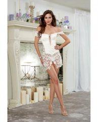 10028-32W Venice Lace Fully Boned Corset Skirt