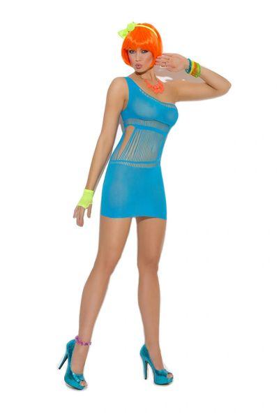8907 Opaque One Shoulder Mini Dress