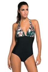 S951 One Piece Dark Camouflage Swimsuit