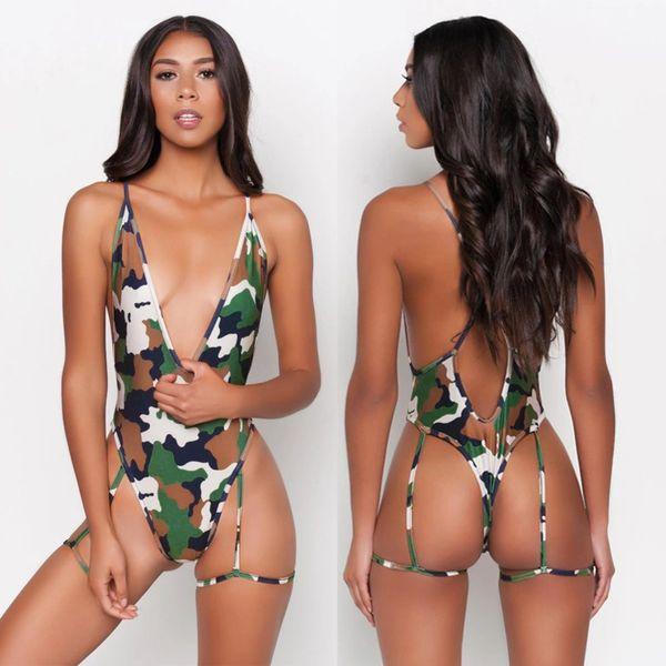 A404 Cameo Bikini Bandage Monokini Swimsuit/Dancewear