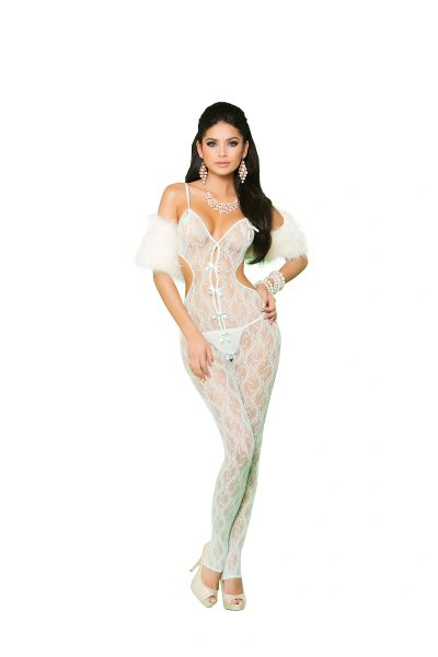81227 Mint Green Lace Bodystocking