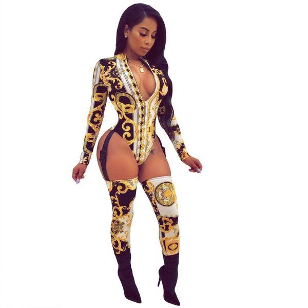 A586 Gold Long Sleeve Bodysuit