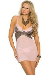 4296 Mesh Babydoll with Underwire Cups