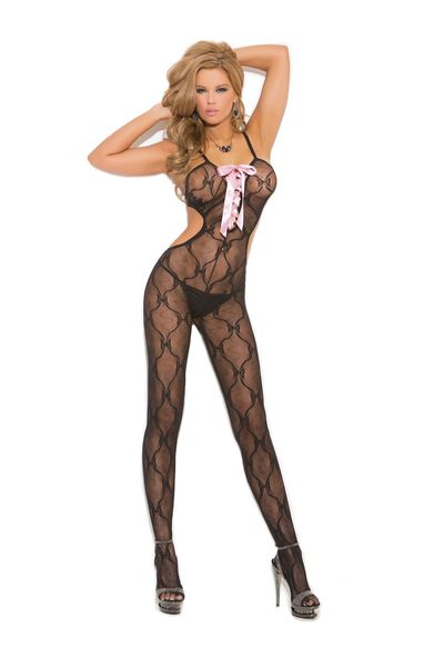 1662Q Lace Bodystocking w/Front Lace