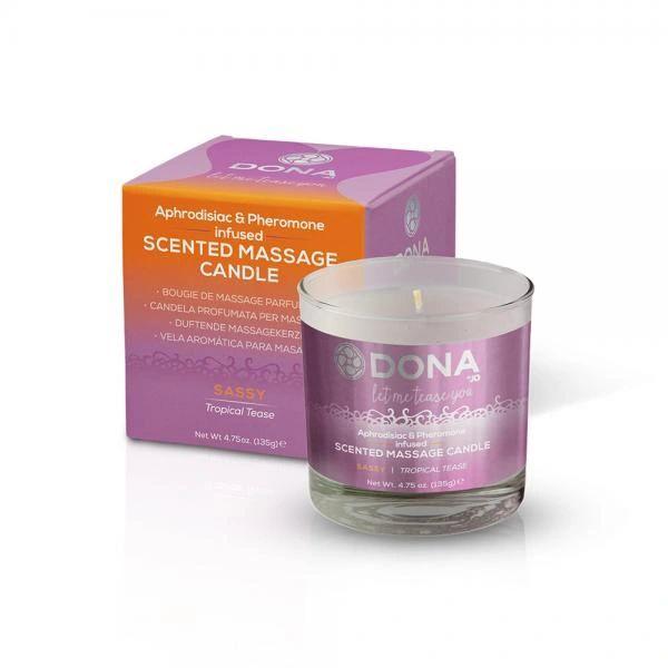 50024 Dona Kissable Massage Candle Tropical Tease