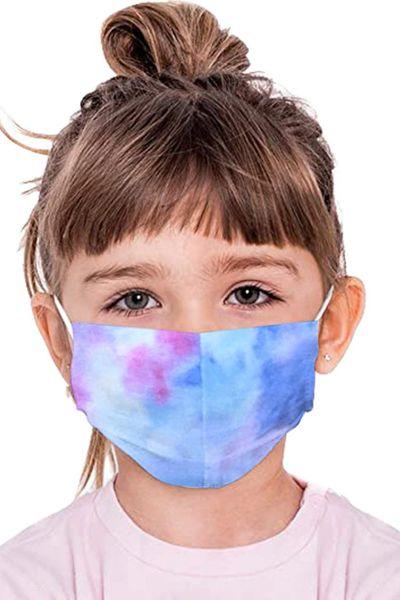 Z085 Sky Blue Tie Dye Child Reusable Face Mask