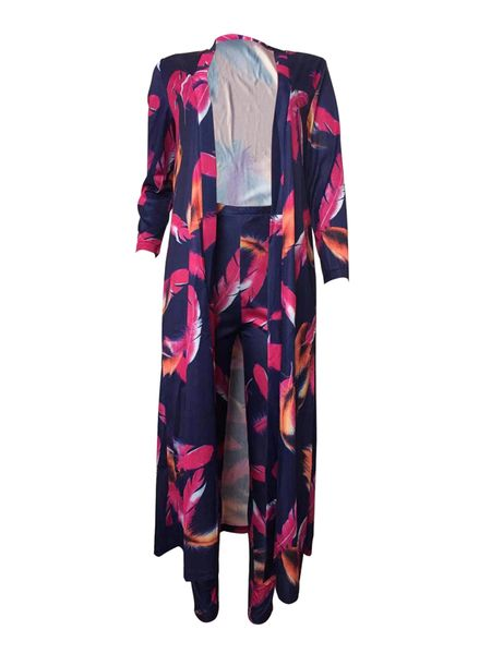 H687 Dark Blue Cardigan with Matching Ankle Length Pants