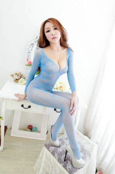 A4228 Long Sleeve Pattern Bodystocking