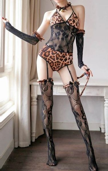 Y850 5pc Leopard Print Teddy