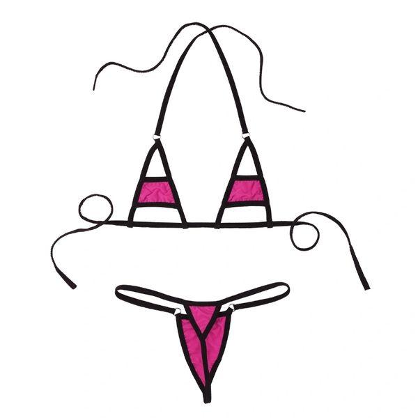 A357 Black Trimmed String Bikini