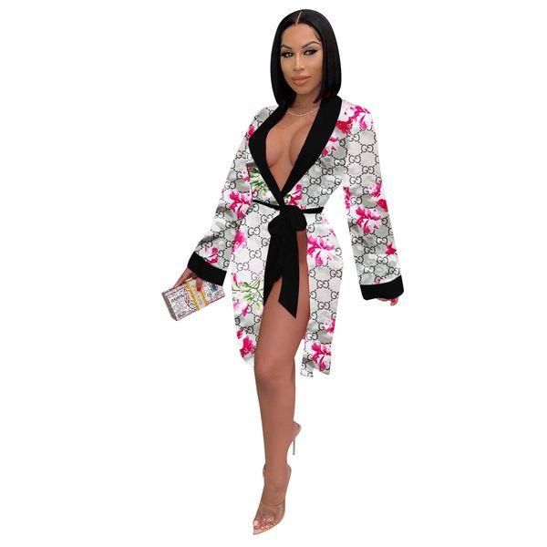 KR241 Floral GG Print Robe