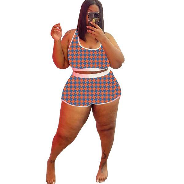 Z196 Orange and Teal 2PC Short Pajama