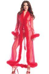 BW1650 Full Lenght Marabou Trimmed Robe