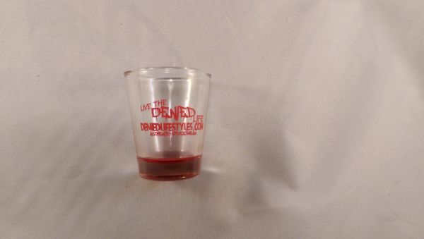 Red Frosted Shotglass