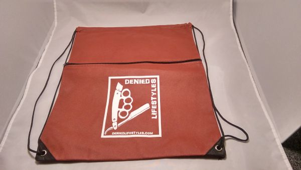 Burgundy Cinch Bag