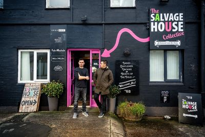 Picture of Brothers Tom and Edd, owners of Salvage House.