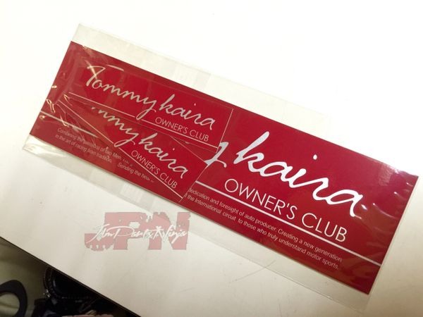 "Tommykaira ""Owner's Club"" sticker set of 3"