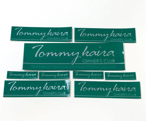 "Tommykaira ""Owner's Club"" sticker set :: GREEN VERSION"