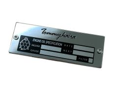 Tommykaira Oil Change Plate