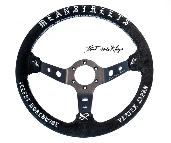 "Vertex x Fatlace 330mm ""Mean Streets"" V.5 Steering Wheel"
