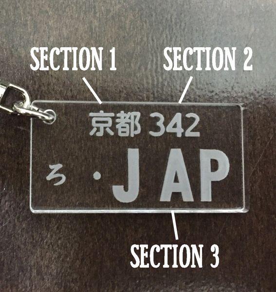 JDM Parts Ninja Customized License Plate Keychain
