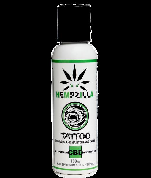 HEMPZILLA CBD TATTOO RECOVERY LOTION 100MG | 308 Hemp