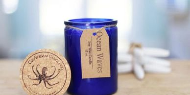 Coastal Soy Candle. Florals, musk , sea salt