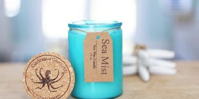 Coastal Soy candle This candle is infused with natural essential oils, including orange and lemon.