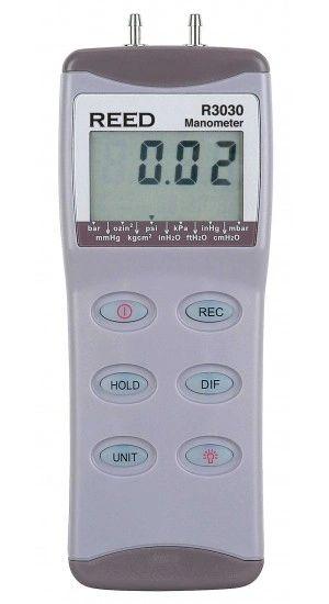 REED R3030 Digital Manometer, Gauge / Differential, 30psi