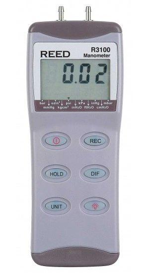 REED R3100 Digital Manometer, Gauge / Differential, 100psi