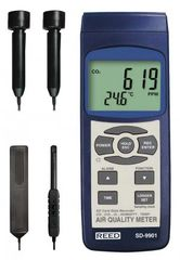 REED SD-9901 SD Series Indoor Air Quality Meter, Datalogger (O2, CO2, CO, Temp/RH)