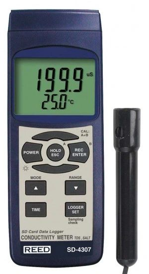 REED SD-4307 SD Series Conductivity/TDS/Salinity Datalogger