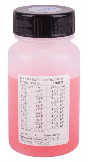 REED PH-04 pH Buffer Solution, 4pH