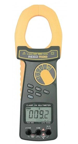 REED R5060 2000A True RMS AC/DC Clamp Meter