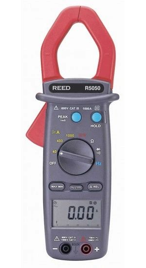 REED R5050 1000A True RMS AC/DC Clamp Meter