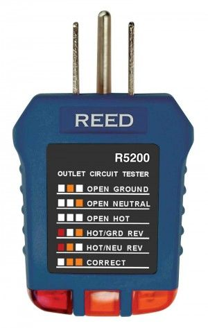 REED R5200 Receptacle Tester