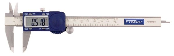 """Fowler 6""""/150mm Xtra-Value Cal Electronic Caliper with Super Large Display"""