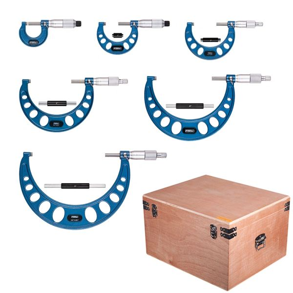 """Fowler 0-6"""" Outside Inch Micrometer Set"""