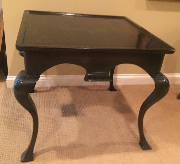 Black Square Side Table By Woodland Furniture Klm Luxury Consignment