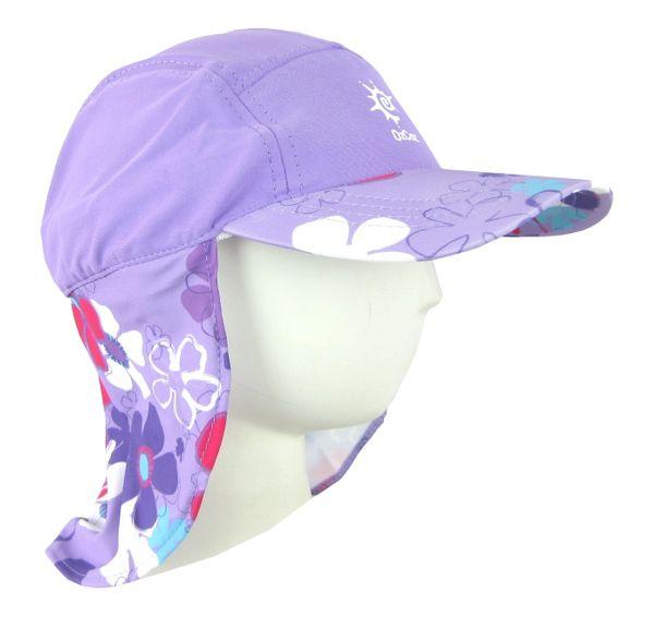OZCOZ SWIM HAT SUN PROTECTION LEGIONNAIRE AQUA 7 TO 10 YRS GIRLS UV 50
