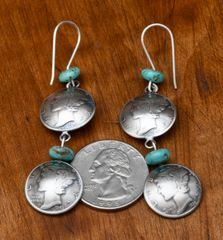 James McCabe winged liberty head dime earrings!—SOLD!